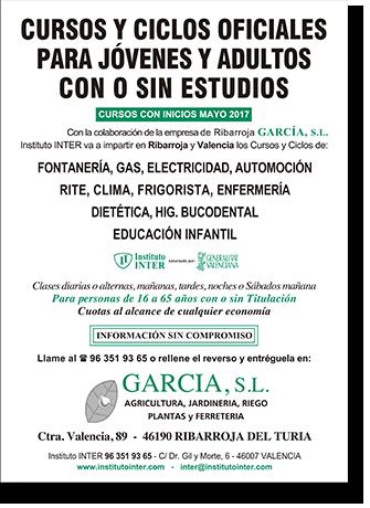 Cursos y ciclos para personas con o sin estudios - García