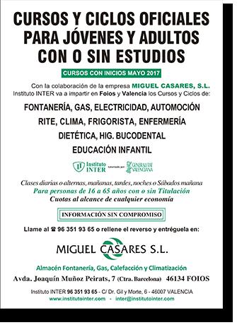 Cursos y ciclos para personas con o sin estudios - Miguel Casares