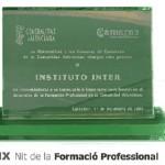 CONSELLERIA D'EDUCACIÓ PREMIA A INSTITUTO INTER