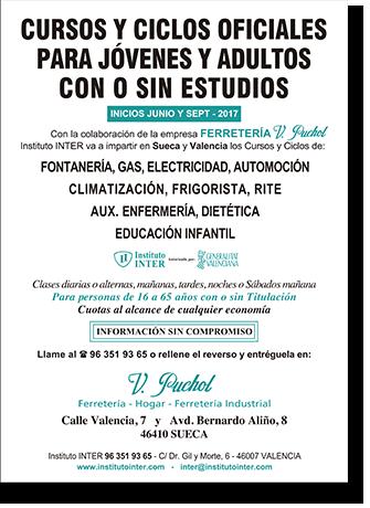 Flyer publicitario Inst. INTER - V. Puchol