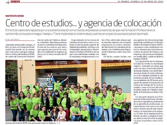 instituto inter en periodico el mundo