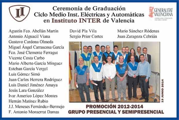 Graduación grupo Electricidad