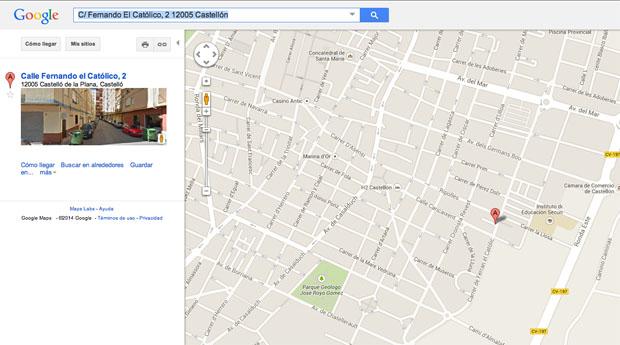 Google places castellón