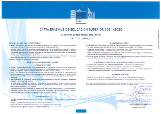 Certificado Erasmus