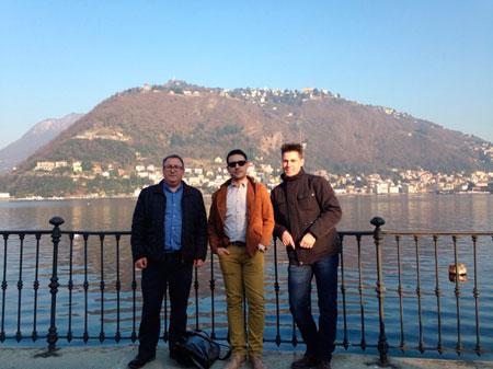 Antonio Rus, Jesús Sanchis y Luis García profesores INTER en Como (Italia)