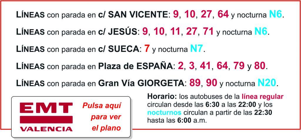 Líneas EMT Valencia