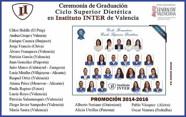 Instituo Inter en Graduación Dietética Presencial