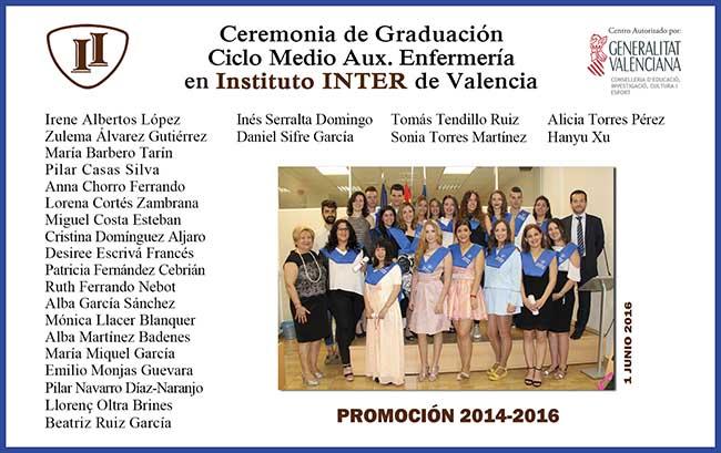 Alumn@s instituto inter Graduación Enfermería