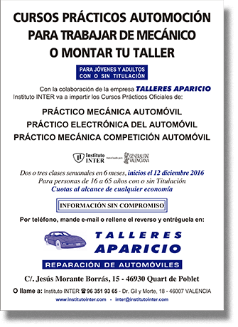 Folleto publicitario Instituto INTER