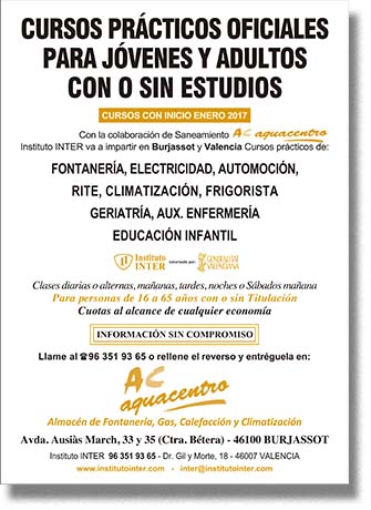 Folleto publicitario AC aquacentro