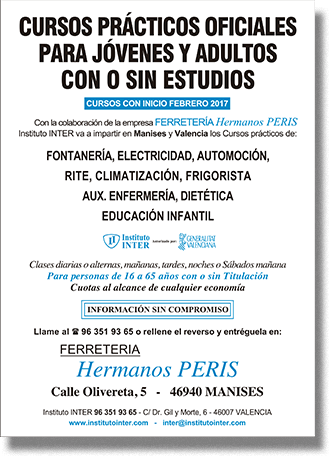 Folleto Publicitario INTER Hermanos Peris