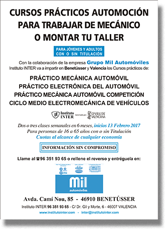 Folleto Publicitario INTER Mil Automóviles