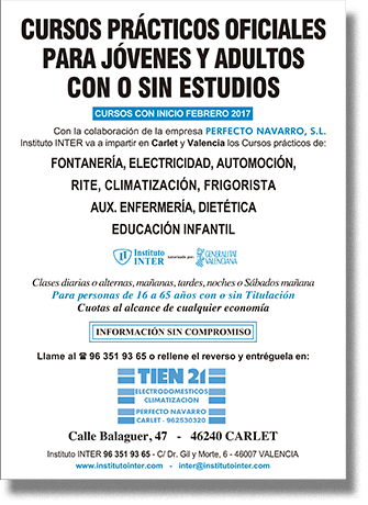 Folleto Publicitario INTER Tien 21
