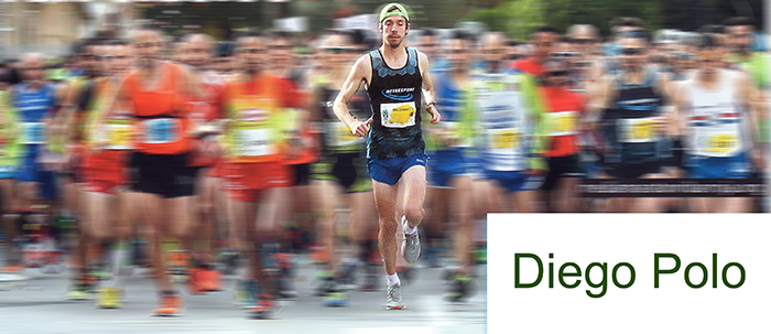 Diego Polo en la salida de una media maratón
