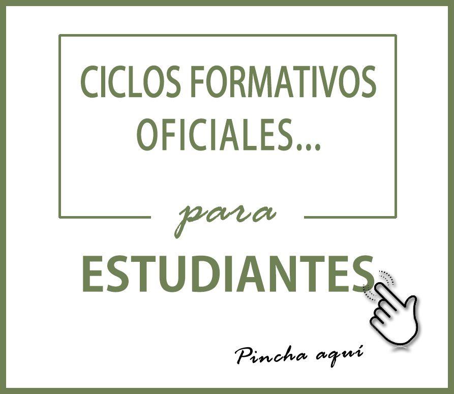 Cartel INTER Ciclos Oficiales para estudiantes