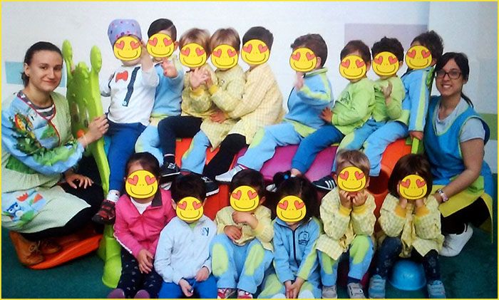 Cristina Ojeda en escuela infantil