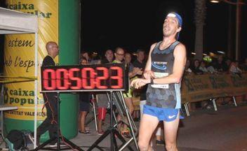 Diego Polo cruzando la meta