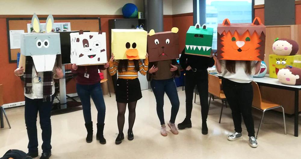 Alumnas INTER Ciclo Ed. Infntil visitan el CEU 1