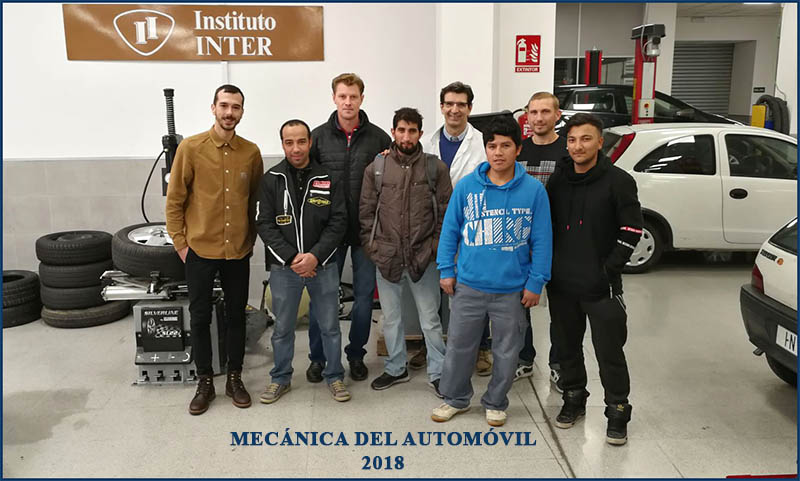 Instituto INTER fin curso Mecánica del Automóvil Febr'18