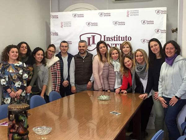 Representantes de las escoletas Del Carmen, Nuno nono, La Aurora y de Instituto INTER
