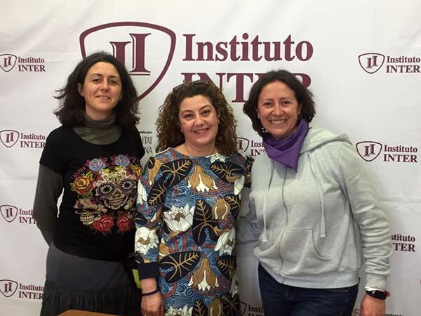 Representantes de la Escoleta del Carmen en Instituto INTER