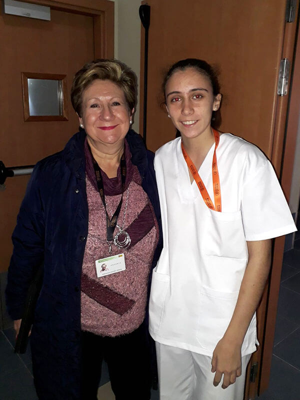 Irene Vanacloig Boronat alumno CFGM Aux. Enfermería Instituto INTER