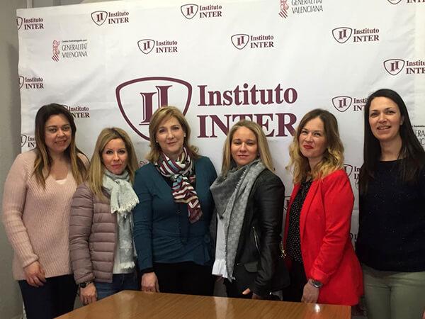 Representantes de la Escuela infantil La Aurora en Instituto INTER