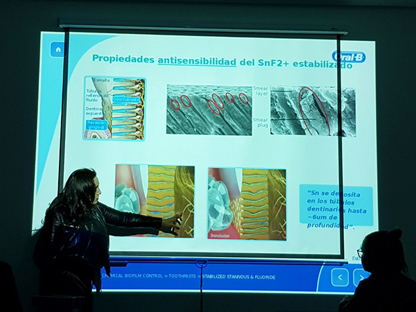 Oral-B habla de la sensibilidad dental a los alumnos de INTER