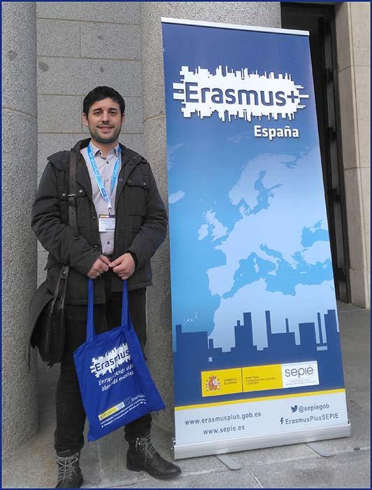 Jesús Sanchis de Instituto INTER en las Jornadas Erasmus+