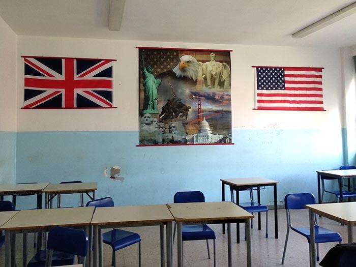 Aula de inglés del instituto de Codogno