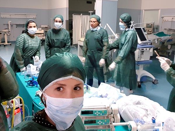 Alumnas Higiene Bucodental INTER visita centro de reanimación de Campobasso