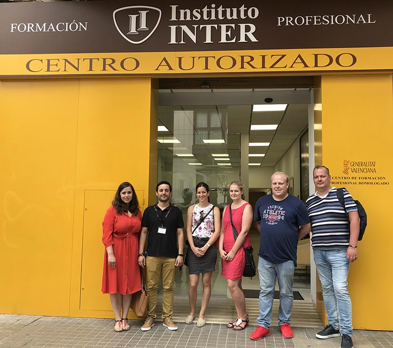 Profesorado europeo visita Instituto INTER
