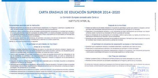 Instituto Inter obtiene la Carta Erasmus
