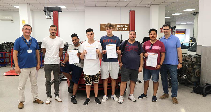 Alumnos Certificado Profesionalidad Automoción INTER 2018