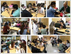 Los alumnos CFGM Aux. Enferm. practican toma de presión arterial