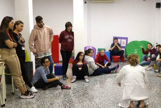 11_Clase práctica de psicomotricidad en CFGS Educación Infantil - Instituto INTER