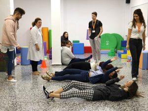 1_Clase práctica de psicomotricidad en CFGS Educación Infantil - Instituto INTER