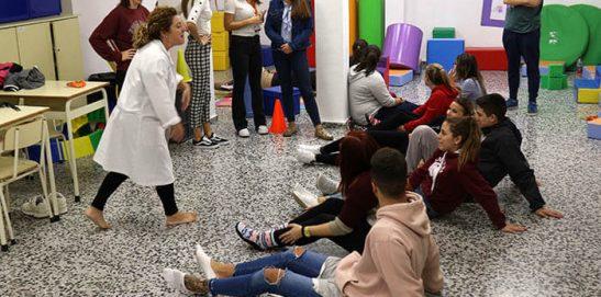2_Clase práctica de psicomotricidad en CFGS Educación Infantil - Instituto INTER