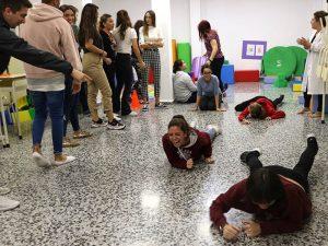 4_Clase práctica de psicomotricidad en CFGS Educación Infantil - Instituto INTER