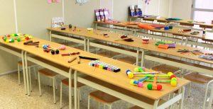 Aula con material del CFGS Educación Infantil INTER
