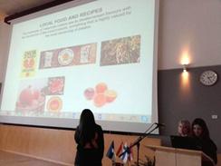 Alumna dietética desarrollando proyecto KA2 en Estonia