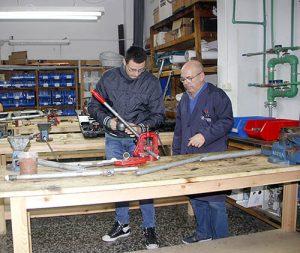 6_Clases Prácticas en taller Fontanería de Instituto INTER