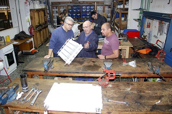 9_Clases Prácticas en taller Fontanería de Instituto INTER