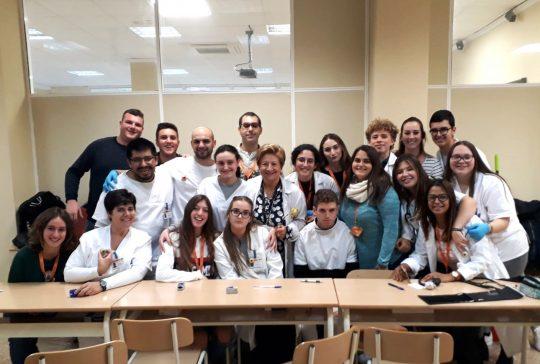 Grupo tardes Auxiliar Enfermería Instituto INTER
