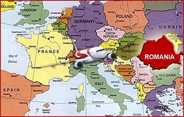 Mapa Europa Rumanía