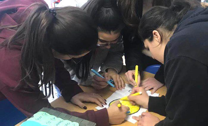 Alumnas INTER practicando
