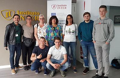 Instituto INTER acoge a un grupo de estudiantes ERASMUS+ de Bélgica