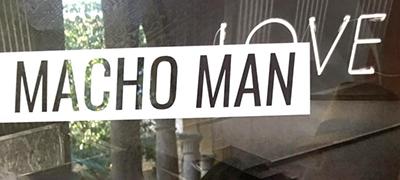 Cartel exposición en Centre Carme Macho Man