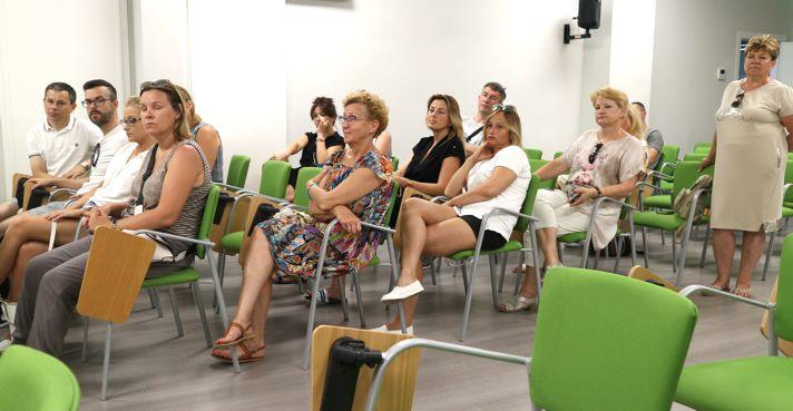 Docentes polacos en el Salón de Actos