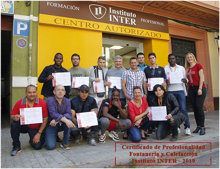 Certificado Profesionalidad Fontanería INTER